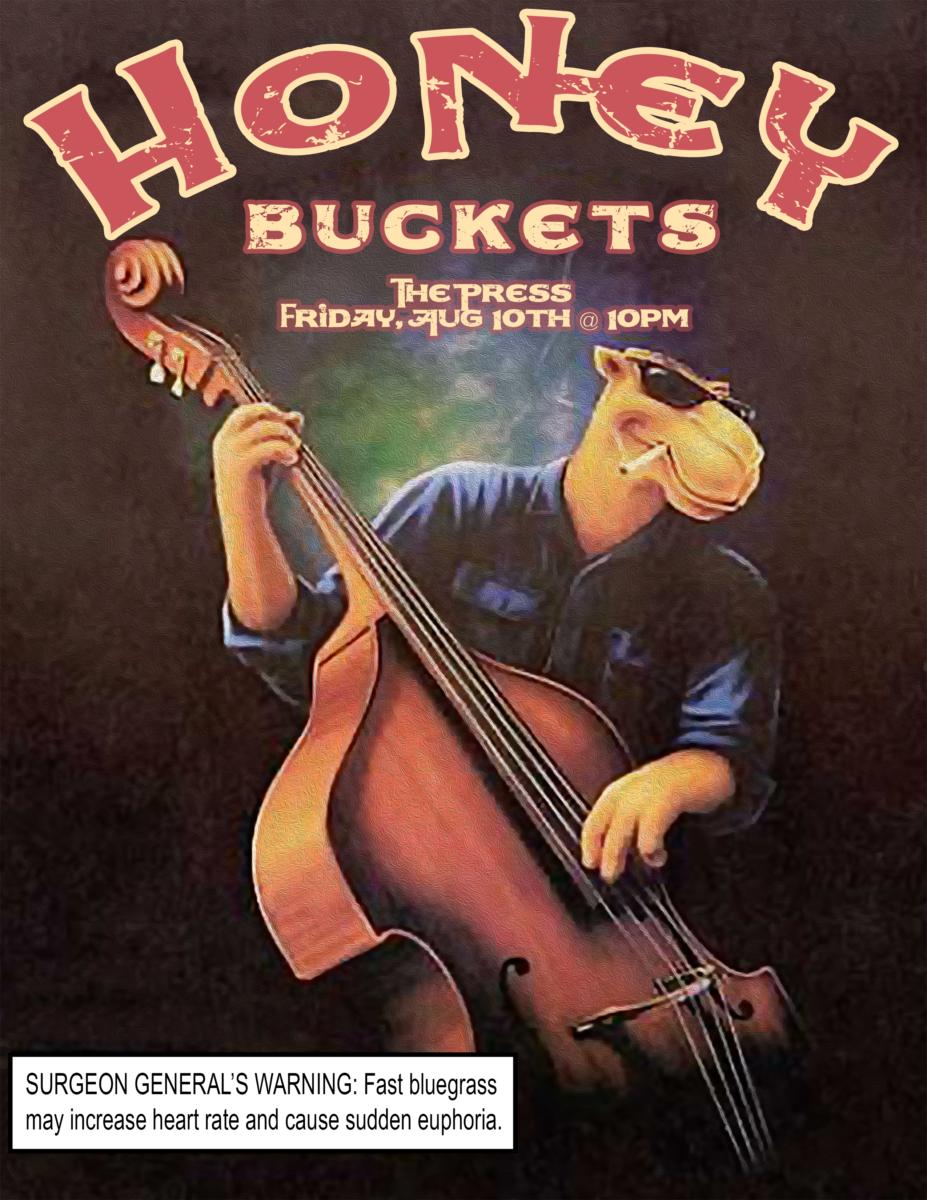 Honey Buckets - Bluegrass Band - The Press, Claremont, CA, 8/10/18